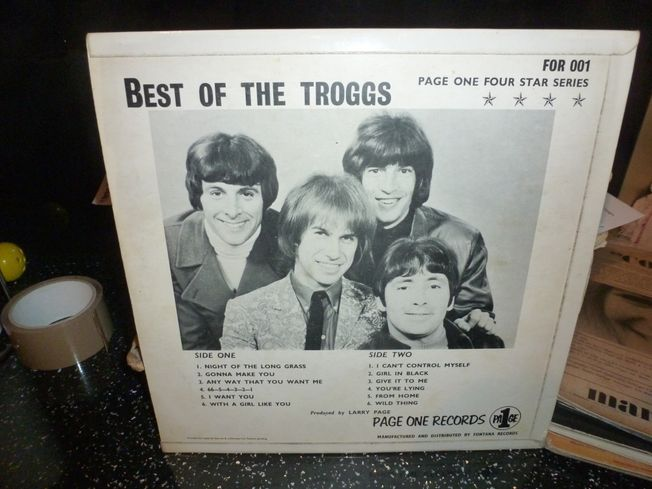 Troggs  ‎– Best Of Troggs  Label: Page One ‎– FOR 001