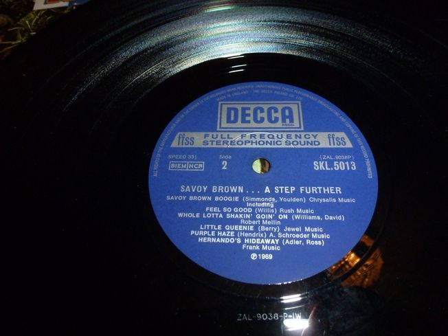 Savoy Brown ‎– A Step Further Label: Decca ‎– SKL 5013,
