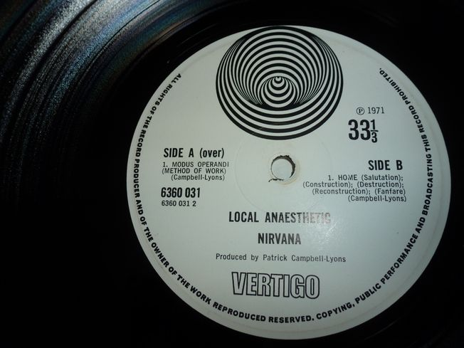 Nirvana  ‎– Local Anaesthetic  Label: Vertigo ‎– 6360031