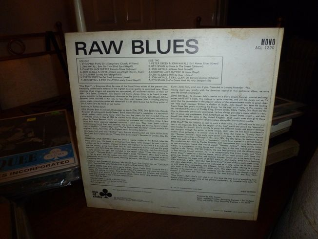 Various ‎– Raw Blues  Label: Ace Of Clubs ‎– ACL  1220
